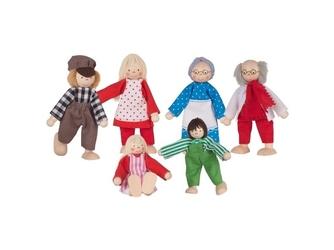 Wiejska rodzinka drewniane laleczki