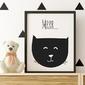 Kotek mrrr...  - plakat dziecięcy , wymiary - 60cm x 90cm, kolor ramki - czarny