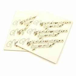 Napis Najserdeczniejsze życzenia 13,5x2 cm - zestaw 6 sztuk - zestaw 6 sztuk