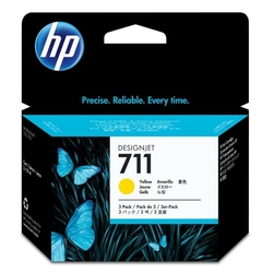 HP oryginalny ink CZ136A, No.711, yellow, 3x29ml, HP DesignJet T120, T520
