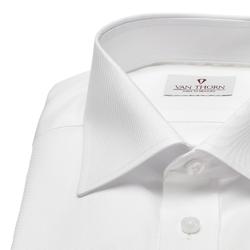 Biała koszula van thorn z kołnierzykiem półwłoski 36