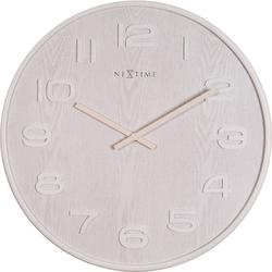 Zegar ścienny Wood Wood Nextime 53 cm, biały 3095 WI