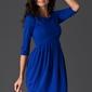 Niebieska sukienka tulipan z rękawem 34