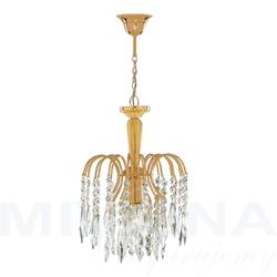 Waterfall lampa wisząca 1 złoty kryształ