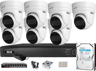 Zestaw monitoringu bcs view rejestrator ip 7x kamera 4k bcs-v-ei836ir3