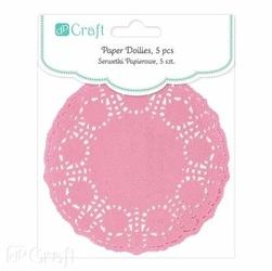 Ozdobna serwetka z papieru 11,5cm5szt. - różowy - różowy