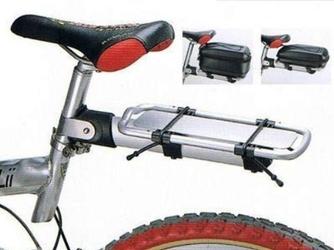 Bagażnik rowerowy beto br-718a mocowany na wsporniku siodła aluminiowy