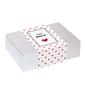 Zestaw prezentowy dla zakochanych lovebox randka z kawą. zestaw 20 saszetek - 20x 10g z różnymi smakami kawy, 2 urocze kubki z nadrukiem i dwa czekoladowe lizaki