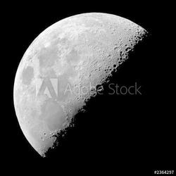 Obraz na płótnie canvas dwuczęściowy dyptyk ćwierć księżyca