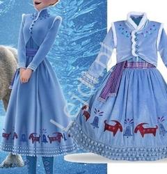 Welurowy kostium elza sukienka + bolerko