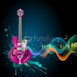 Obraz na płótnie canvas dwuczęściowy dyptyk gitara
