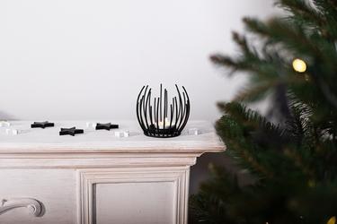 Świecznik metalowy altom design czarny 10 x 9,5 cm