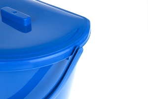 Bentom wiadro przyścienne z pokrywą 11 l - niebieskie