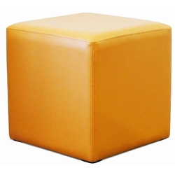 Tapicerowany kwadratowy puf kubik i