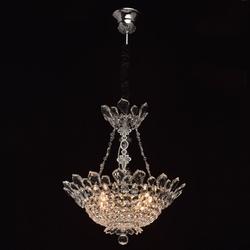 Kryształowa, luksusowa lampa wisząca, chromowane wykończenie mw-light crystal 447010306
