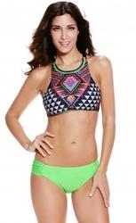 Bikini strój kąpielowy neon aztec
