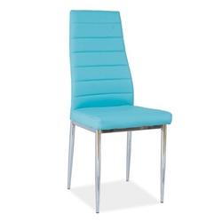 Krzesło do salonu Paola niebieskie ekoskóra
