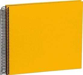 Album na zdjęcia uni economy czarne karty średni żółty