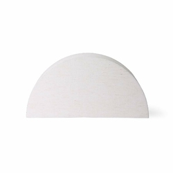 HK Living :: Klosz do lampy stołowej Ribbed naturalny, rozm L