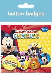 Mickey Mouse Club House - zestaw 6 przypinek