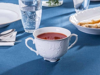 Bulionówka  flaczarka porcelana ćmielów rococo 3604 330 ml