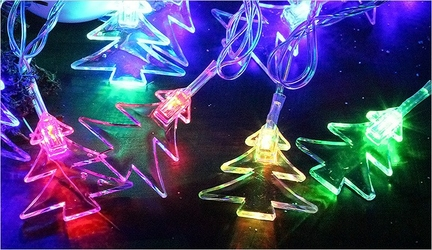Lampki świąteczne światełka choinkowe 28 led - choinki ledowe kolorowe 4,5m