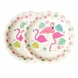 Papierowe talerzyki, Flamingo Bay, 8 szt., Rex London