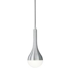Minimalistyczna lampa wisząca ze smukłym kloszem drops