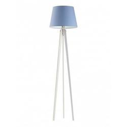 Lampa podłogowa curacao abażur niebieski stelaż biały - niebieski