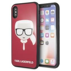 Karl lagerfeld etui hardcase iphone xxs klhcpxdlhre czerwony iconic glitter karls head
