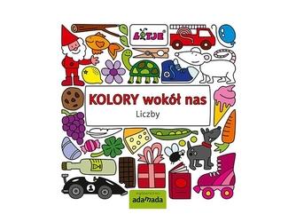 Kolory wokół nas liczby edukacyjna książka dla dzieci