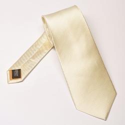 Krawat ślubny jedwabny w kolorze śmietankowym