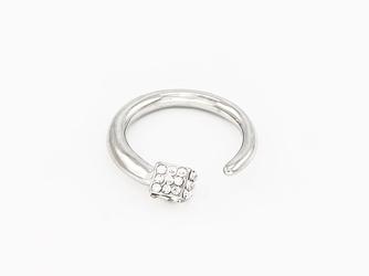 Pierścionek cube silver - SILVER