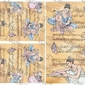 Papier ryżowy decomania 35x50 cm baletnica