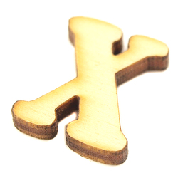 Drewniana literka do rękodzieła - X - X