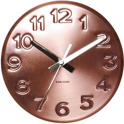 Zegar ścienny Bold Engraved Karlsson miedziany KA5477CO