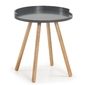 Stolik TEPIC szary śr.46cm - szary || drewniany