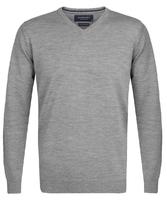 Elegancki szary sweter prufuomo z delikatnej wełny merynosów s