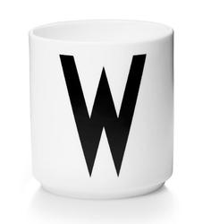 Kubek porcelanowy AJ litera W