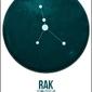 Znak zodiaku, Rak - plakat Wymiar do wyboru: 21x29,7 cm