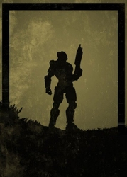 Dawn of heroes - masterchief, halo - plakat