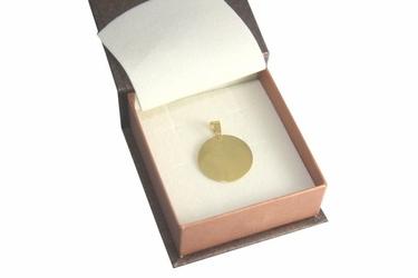 Zawieszka okrąg srebro pokryte złotem grawer zdjęcia i tekstu