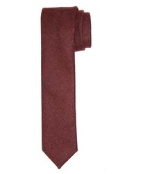 Bordowy krawat wełniany Profuomo