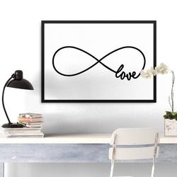 Love eternity - plakat w ramie , wymiary - 30cm x 40cm, ramka - biała