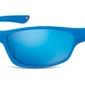 Okulary dziecięce sportowe unisex niebieskie matowe lustrzane cs90c