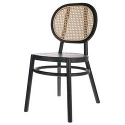 Hk living :: krzesło drewniane retro czarne