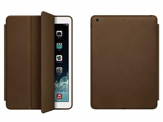 Smart Case etui do iPad AIR ciemne brązowe + szkło hartowane - Ciemny brąz