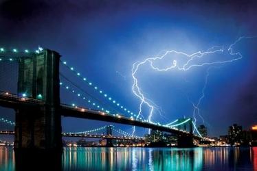 Brooklyn Bridge New York, Lightning - plakat