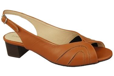 Obuwie damskie sandały skóra naturalna rude 991 elitabut - rude