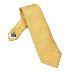 Elegancki żółty pastelowy lniany krawat Van Thorn